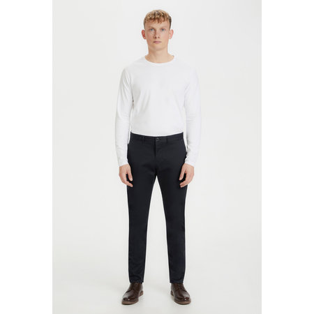 Cotton Sateen Dressy Pants - Navy