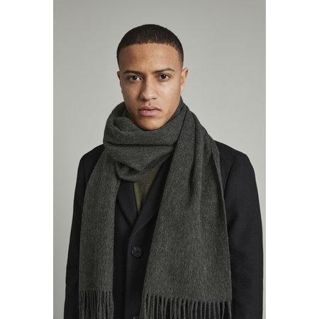 Wool Scarf - Dark Grey Melange
