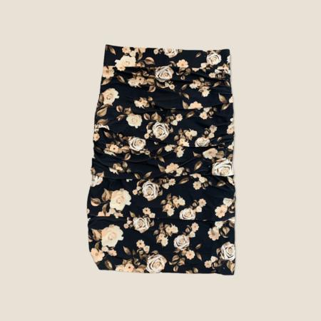 Layered Skirt - Black Roses
