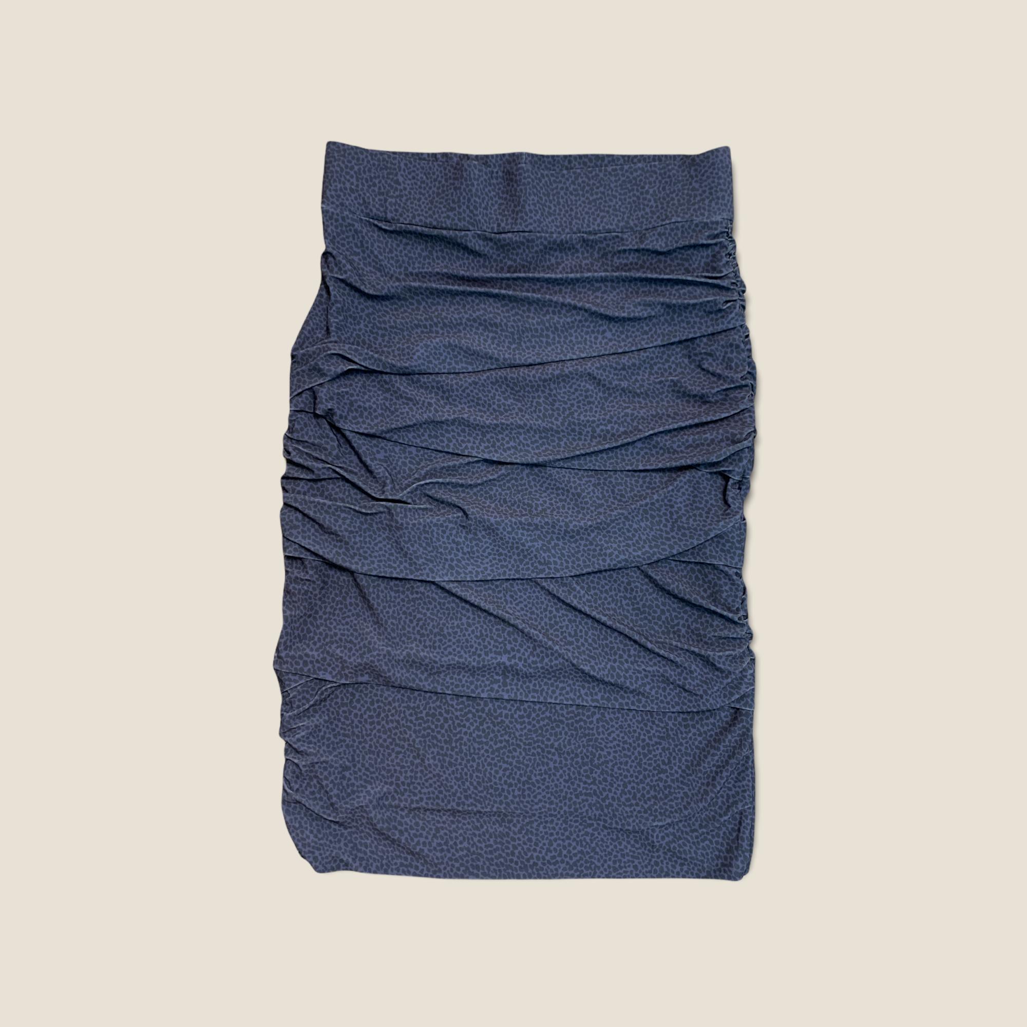 Layered Skirt - Navy Pebble
