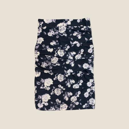 Layered Skirt - Navy Roses