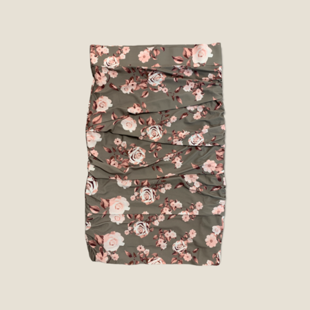 Layered Skirt - Taupe Roses