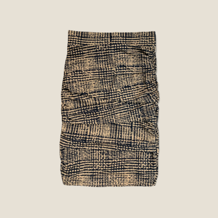 Layered Skirt - Abstract Check