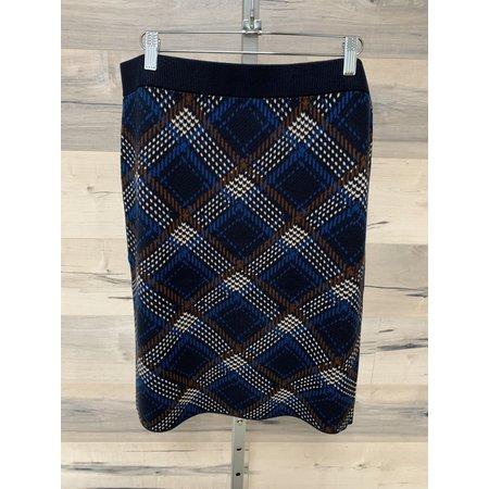 Jaquard Skirt - Autumn Check