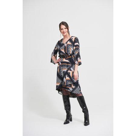 Ladies Dress with Asymmetrical Belt