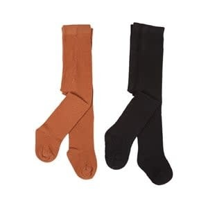 Tights - 2 Pack - Cognac and Black