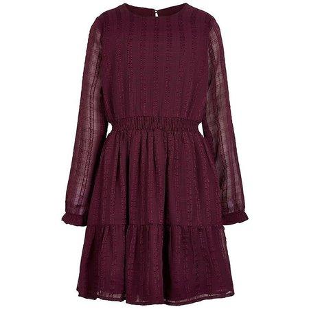 Chiffon Check Dress