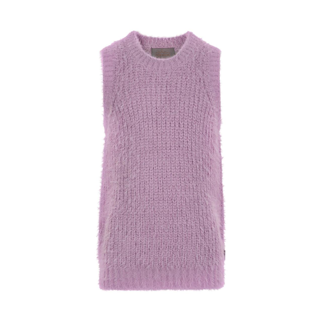Fluffy Vest - Lavender Mist