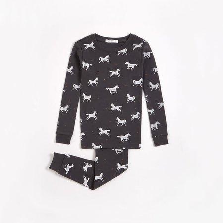 Horses Dark Grey PJ Set