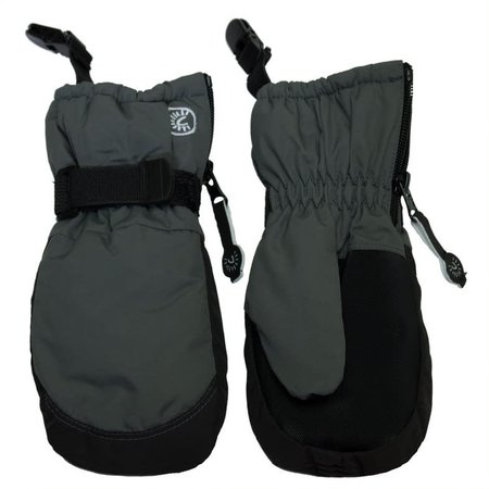 Waterproof Mittens with Clips - Charcoal