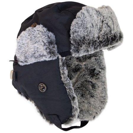 Minky Lined Waterproof Aviator Hat - Black