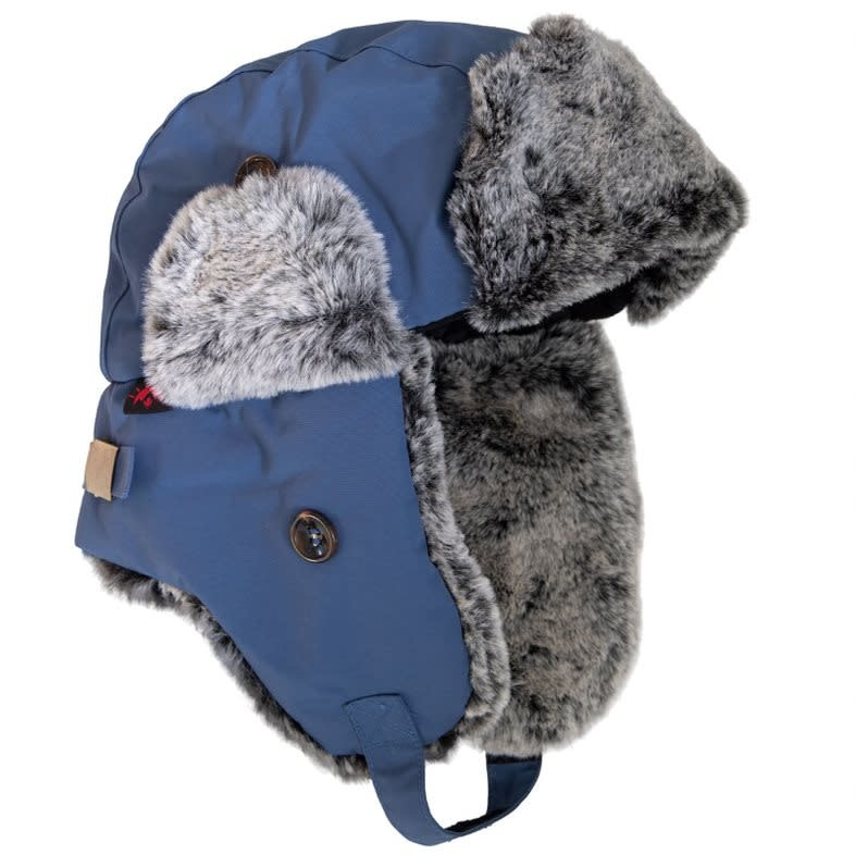 Minky Lined Waterproof Aviator Hat - Dark Denim