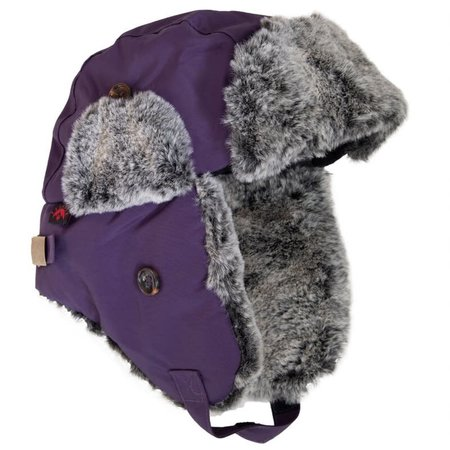 Minky Lined Waterproof Aviator Hat - Purple