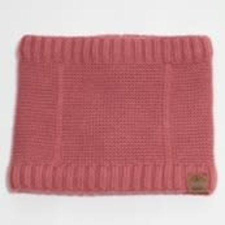 Cotton Knit Neck Warmer with Minky Lining - Brick