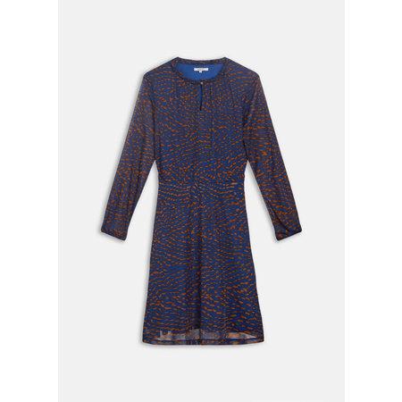 Blue Dress with Gold Flecks