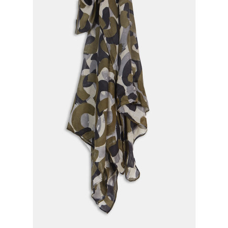 Olive and Black Scarf