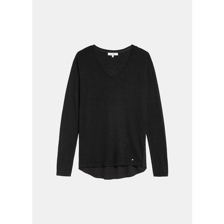 Black Sweater with Chiffon Back
