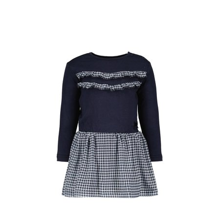 Stella Dress with Houndstooth Mesh Skirt