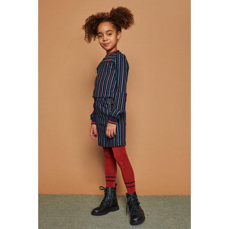 Munial Fancy Longsleeve Stripe Dress