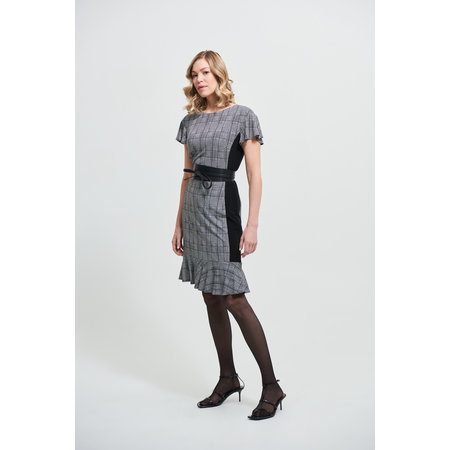 Check Dress with Belt