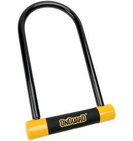 "OnGuard OnGuard BullDog Series U-Lock - 4.5 x 9"", Keyed, Black/Yellow, Includes bracket"