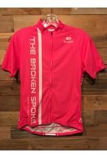 Sugoi Broken Spoke Short Sleeve Pink Jersey Women's
