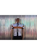 Broken Spoke Jersey Full Zip M's Sm Race Cut Wht/Blk/Brn