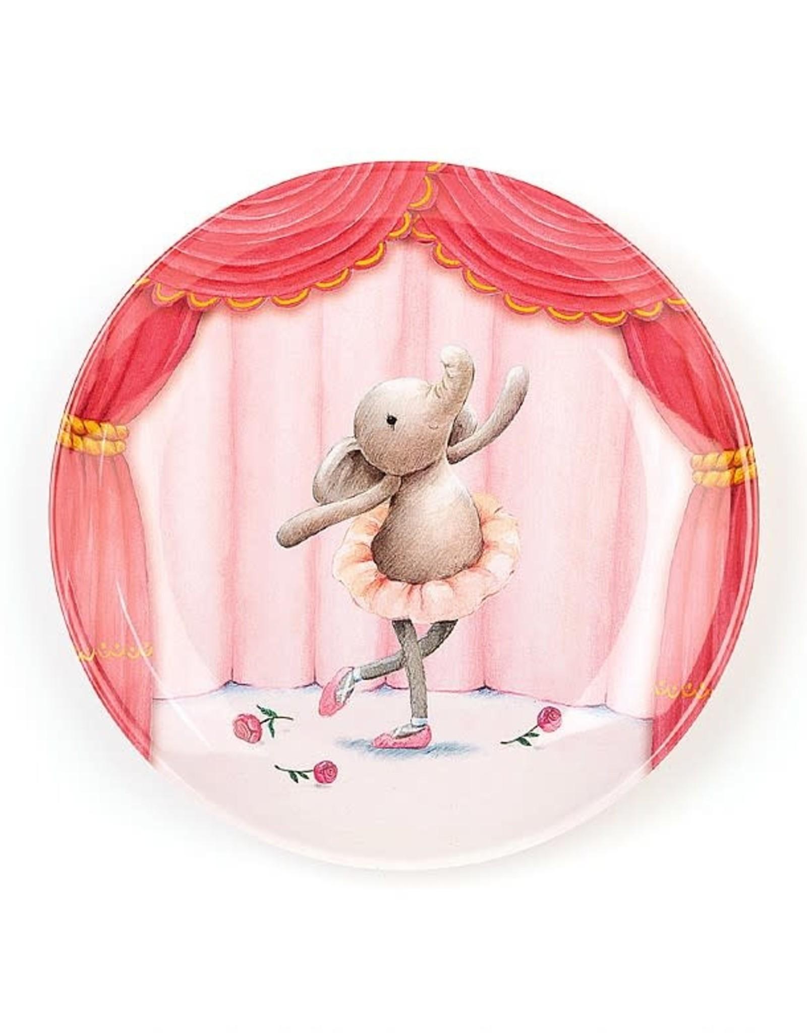 Jellycat Inc. Jellycat Elly Ballerina Melamine Plate