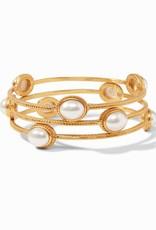 Julie Vos Julie Vos Calypso Bangle Gold Pearl Medium