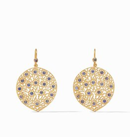 Julie Vos Julie Vos Peacock Earring Gold Chalcedony