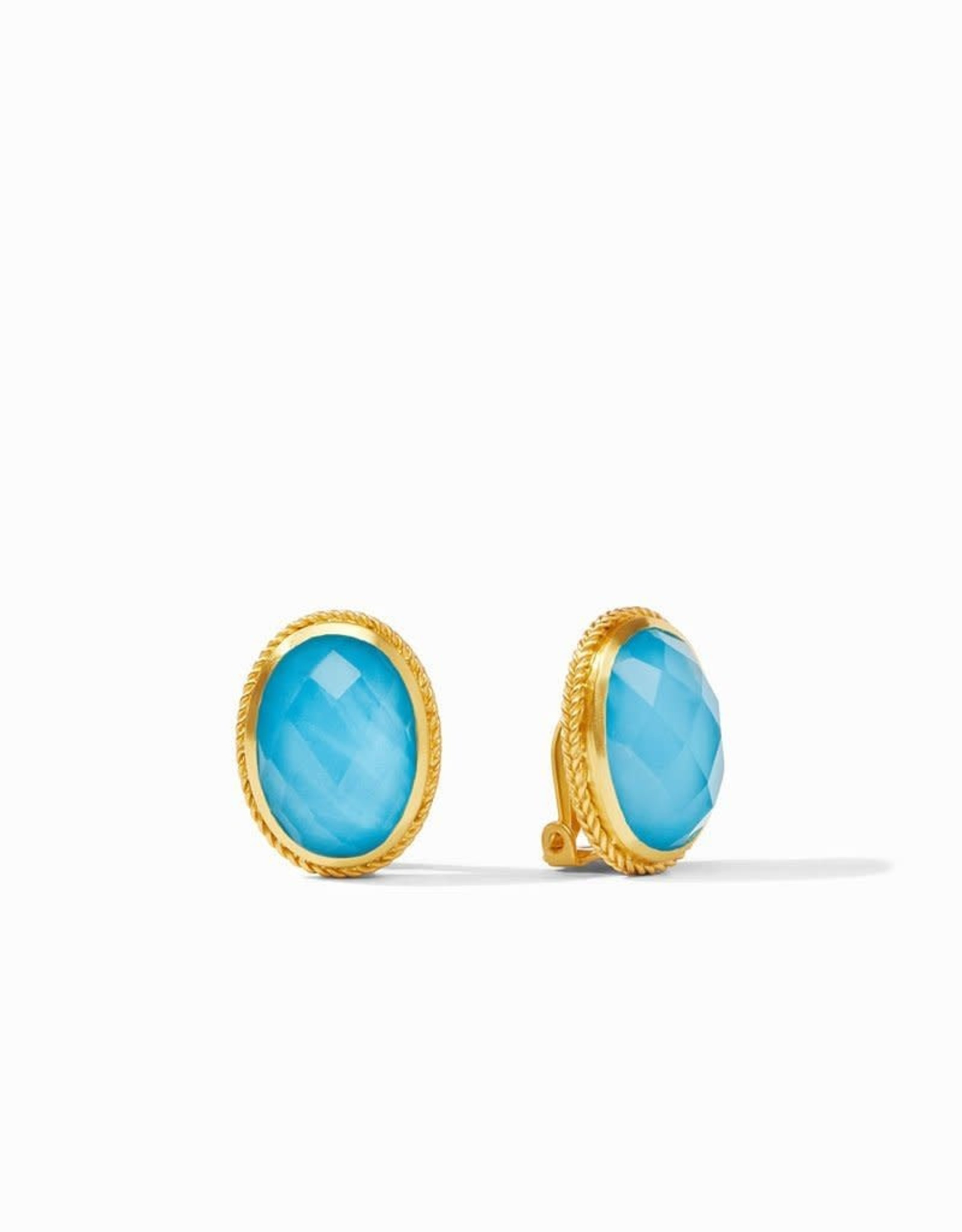Julie Vos Julie Vos Verona Clip-On Earring Iridescent Turquoise