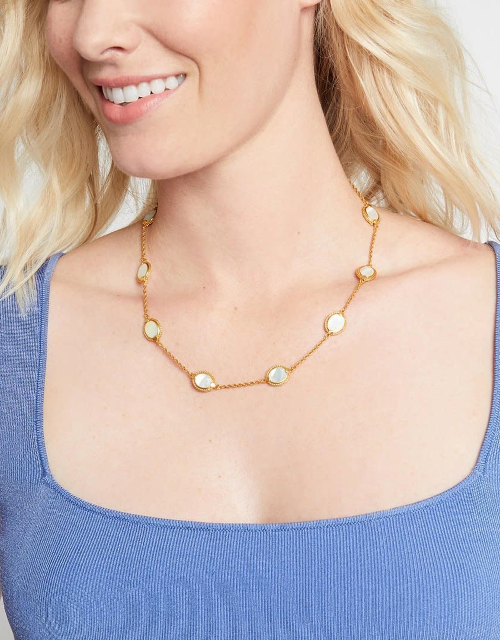 Julie Vos Julie Vos Calypso Delicate Station Necklace Pearl