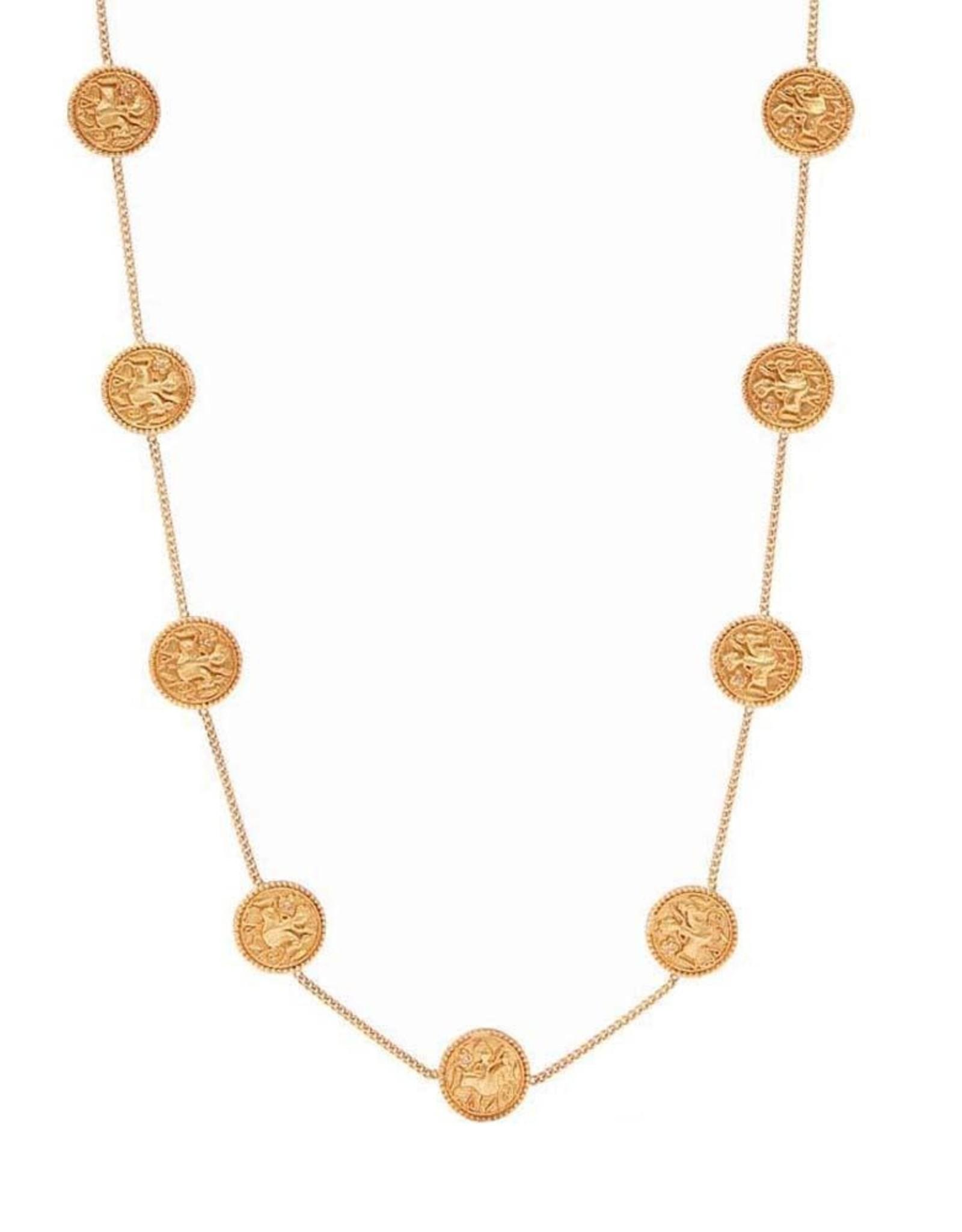 Julie Vos Julie Vos Coin Demi Station Necklace