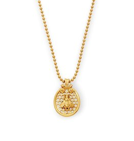 Julie Vos Julie Vos Honeycomb Charm Necklace