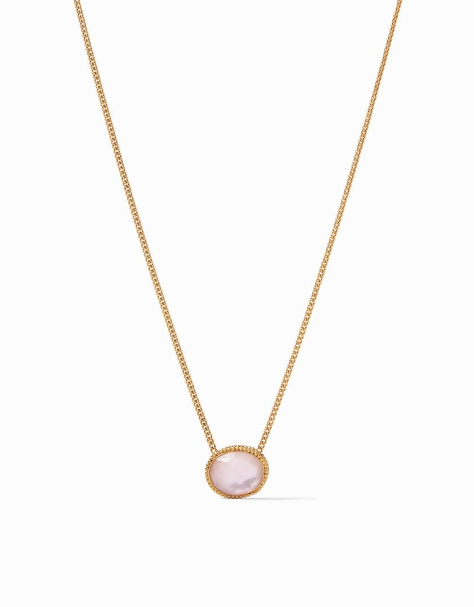 Julie Vos Julie Vos Verona Solitaire Necklace Iridescent Rose