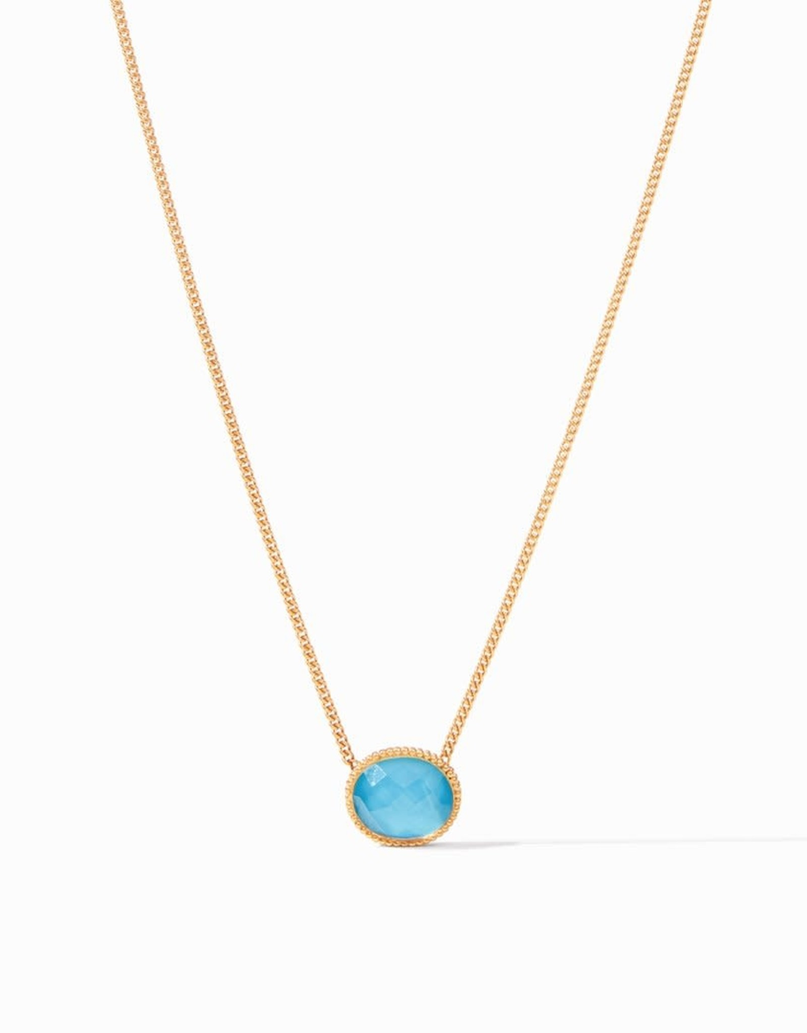 Julie Vos Julie Vos Verona Solitaire Necklace Iridescent Pacific Blue