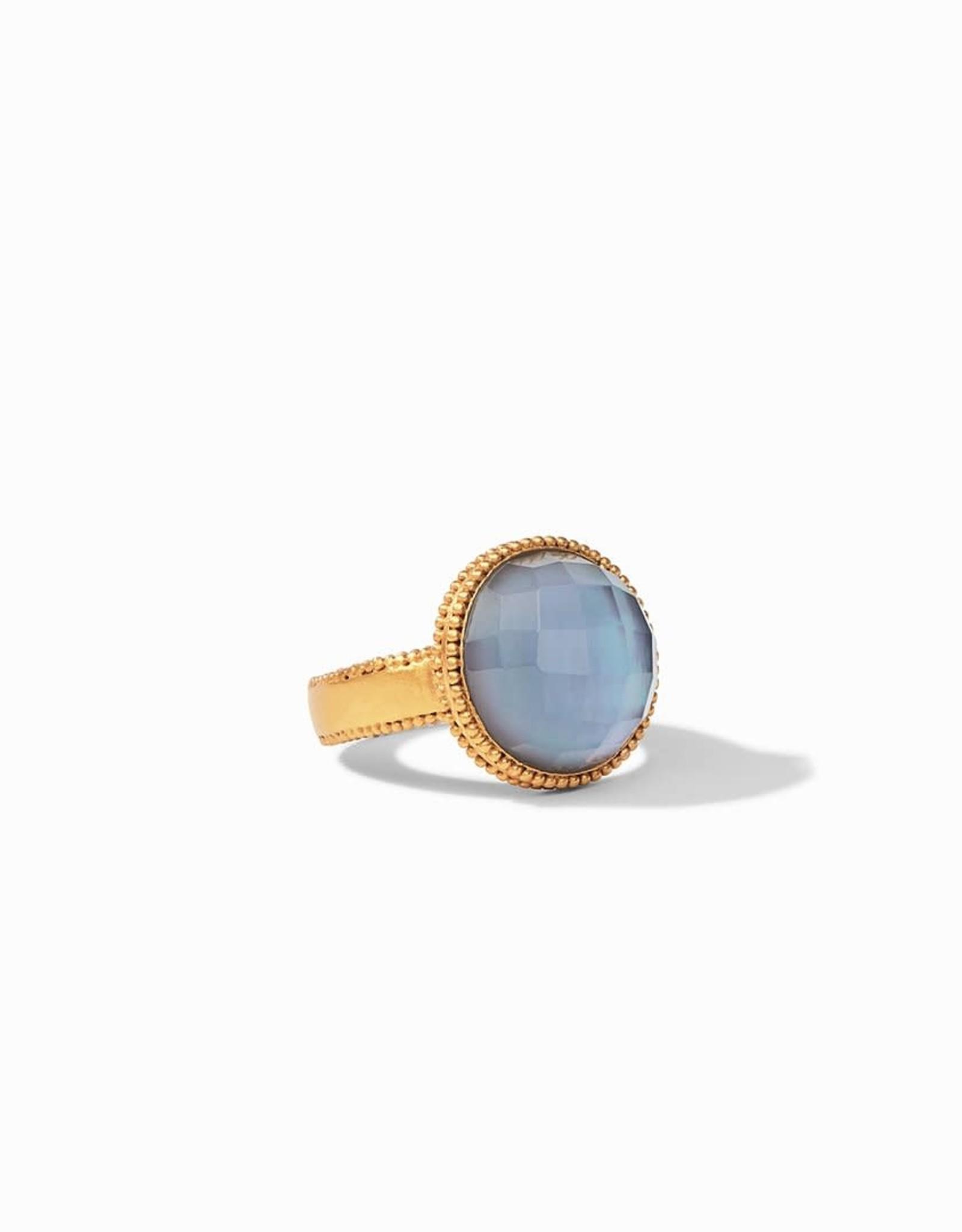 Julie Vos Julie Vos Fleur de Lis Ring Slate Blue