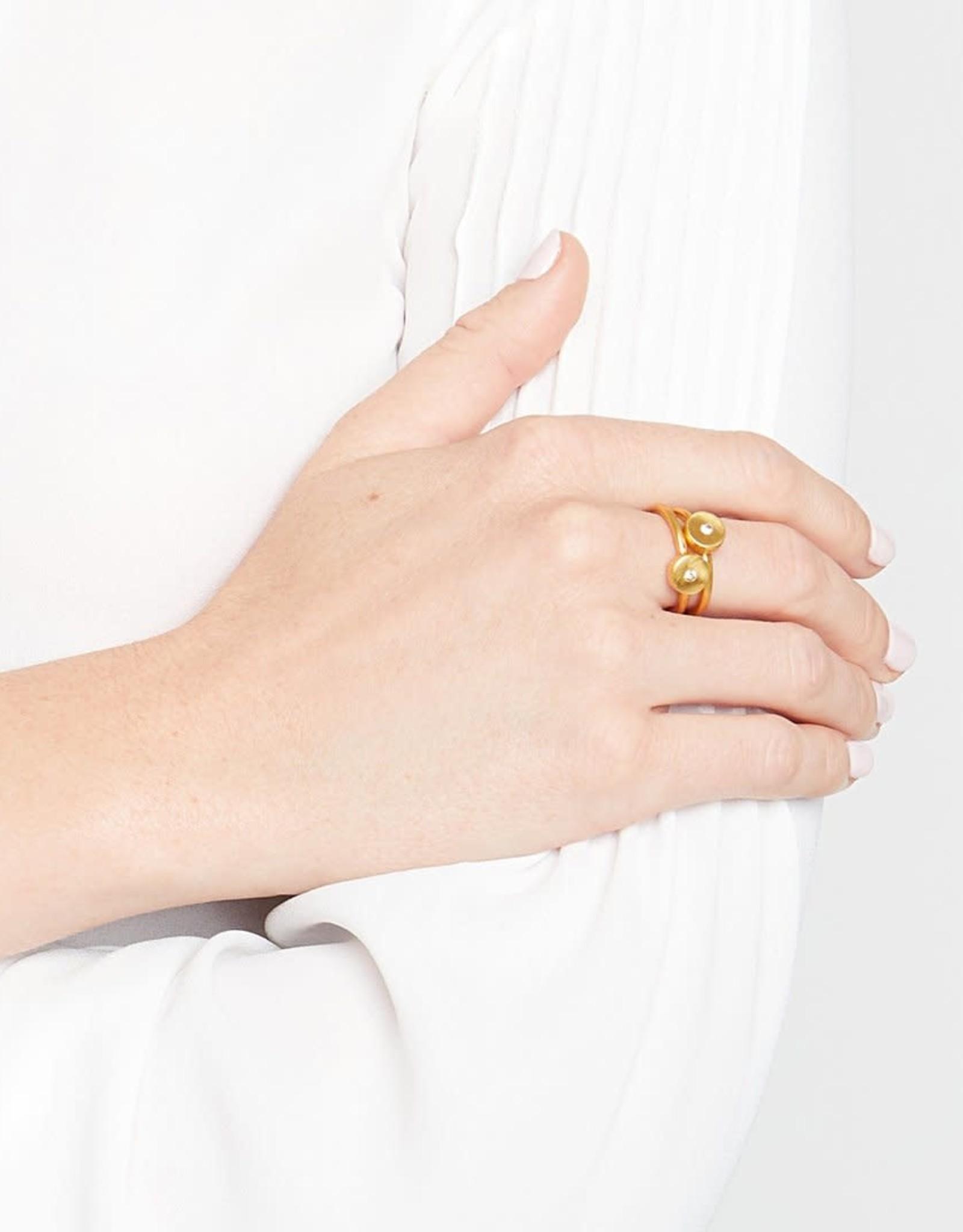 Julie Vos Julie Vos Poppy Stacking Rings Gold CZ