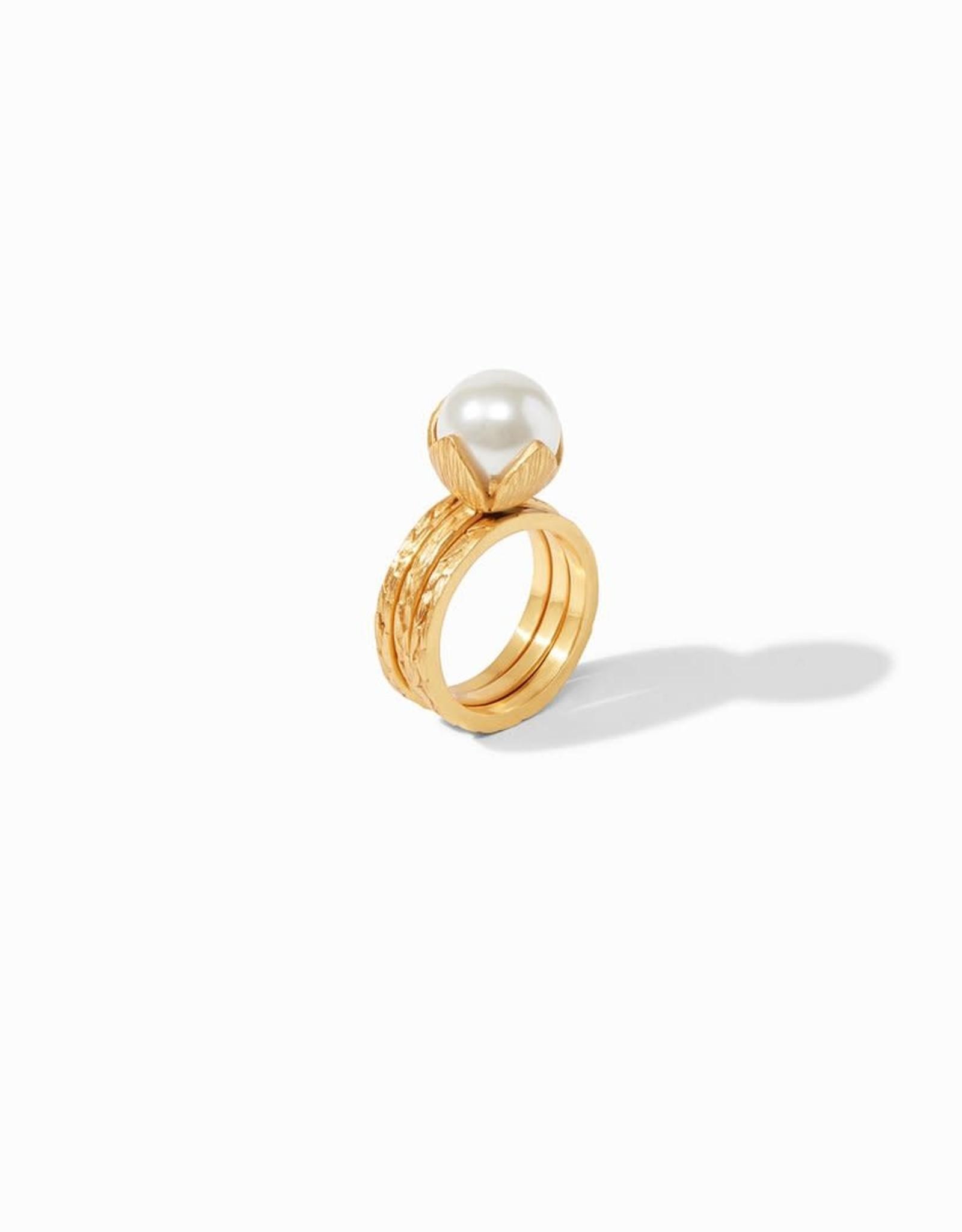 Julie Vos Julie Vos Penelope Set Ring Gold Pearl