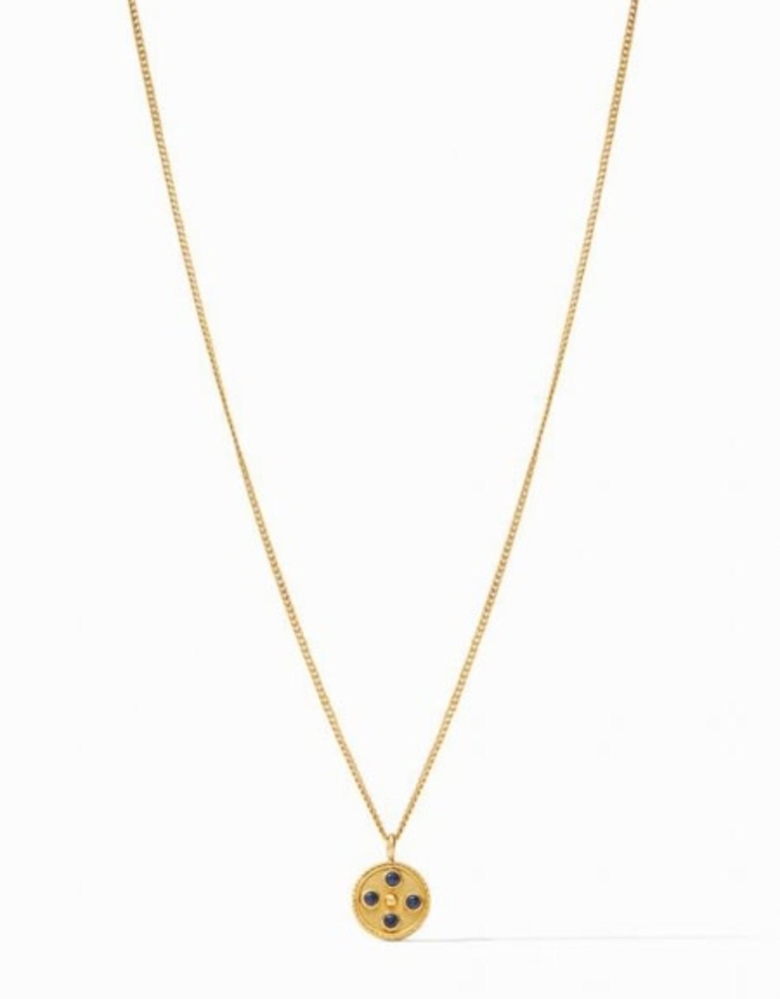 Julie Vos Julie Vos Paris Charm Necklace Sapphire