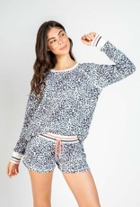 PJ Salvage PJ Salvage Leopard Thermal Lounge L/S Top