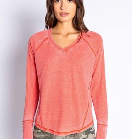 PJ Salvage PJ Salvage In Command Mango Long Sleeve Top