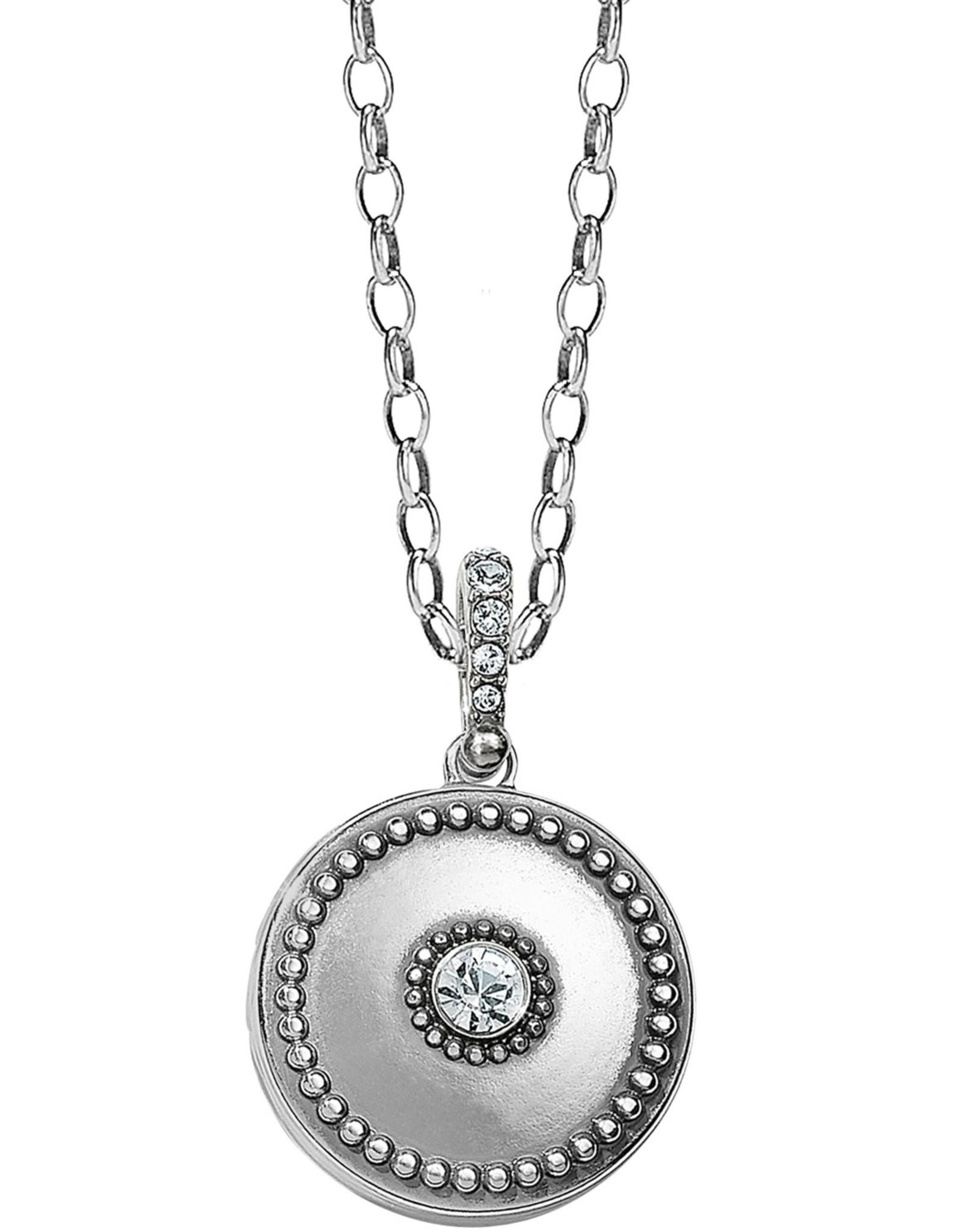 Brighton Brighton Twinkle Small Round Double Locket Necklace