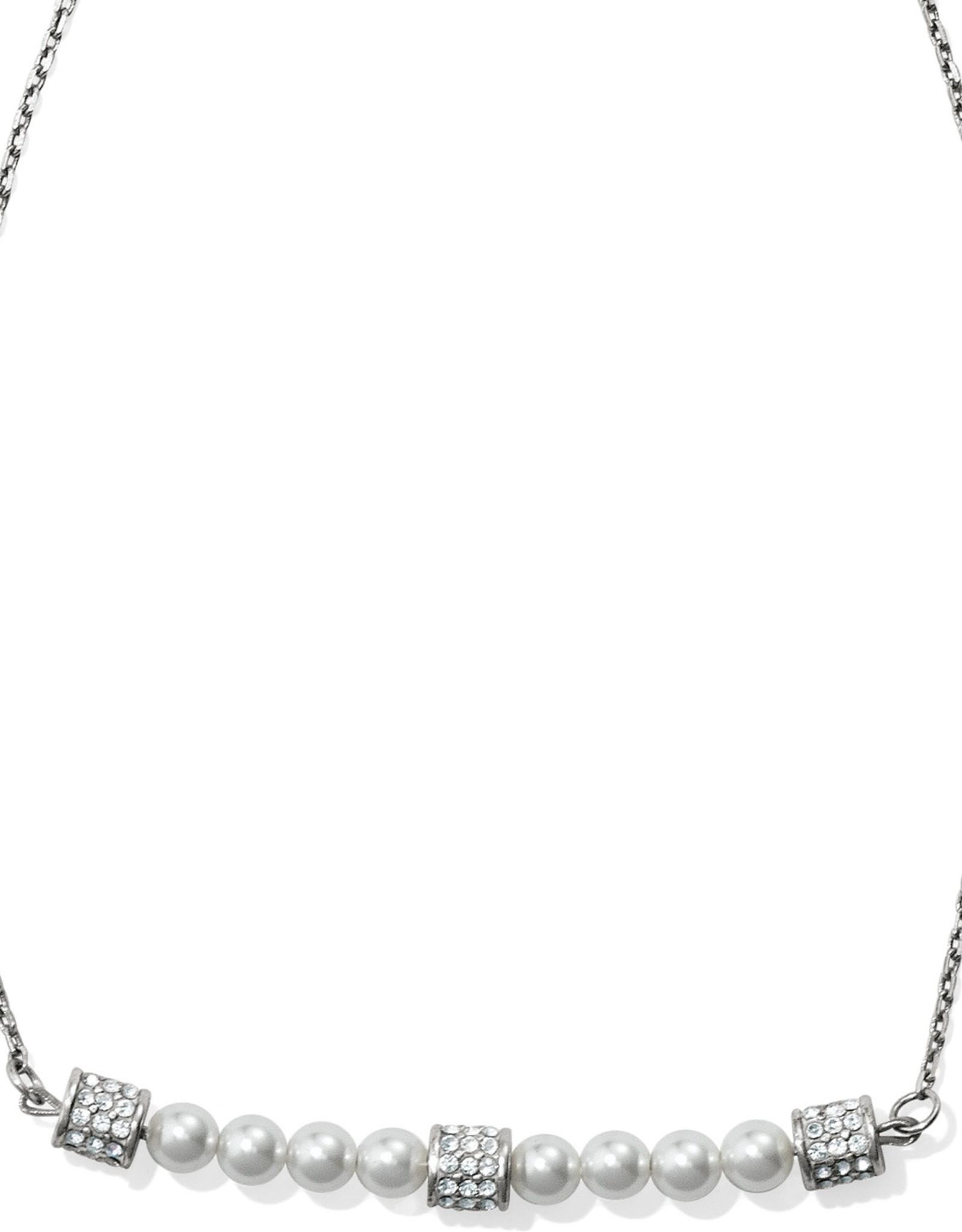 Brighton Brighton Meridian Petite Pearl Bar Necklace