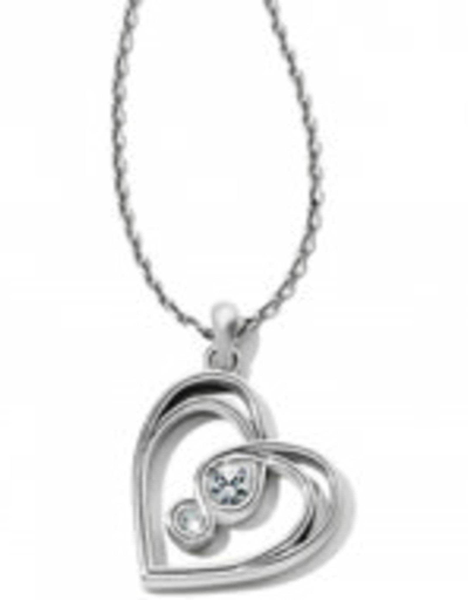 Brighton Brighton Infinity Sparkle Petite Heart Necklace
