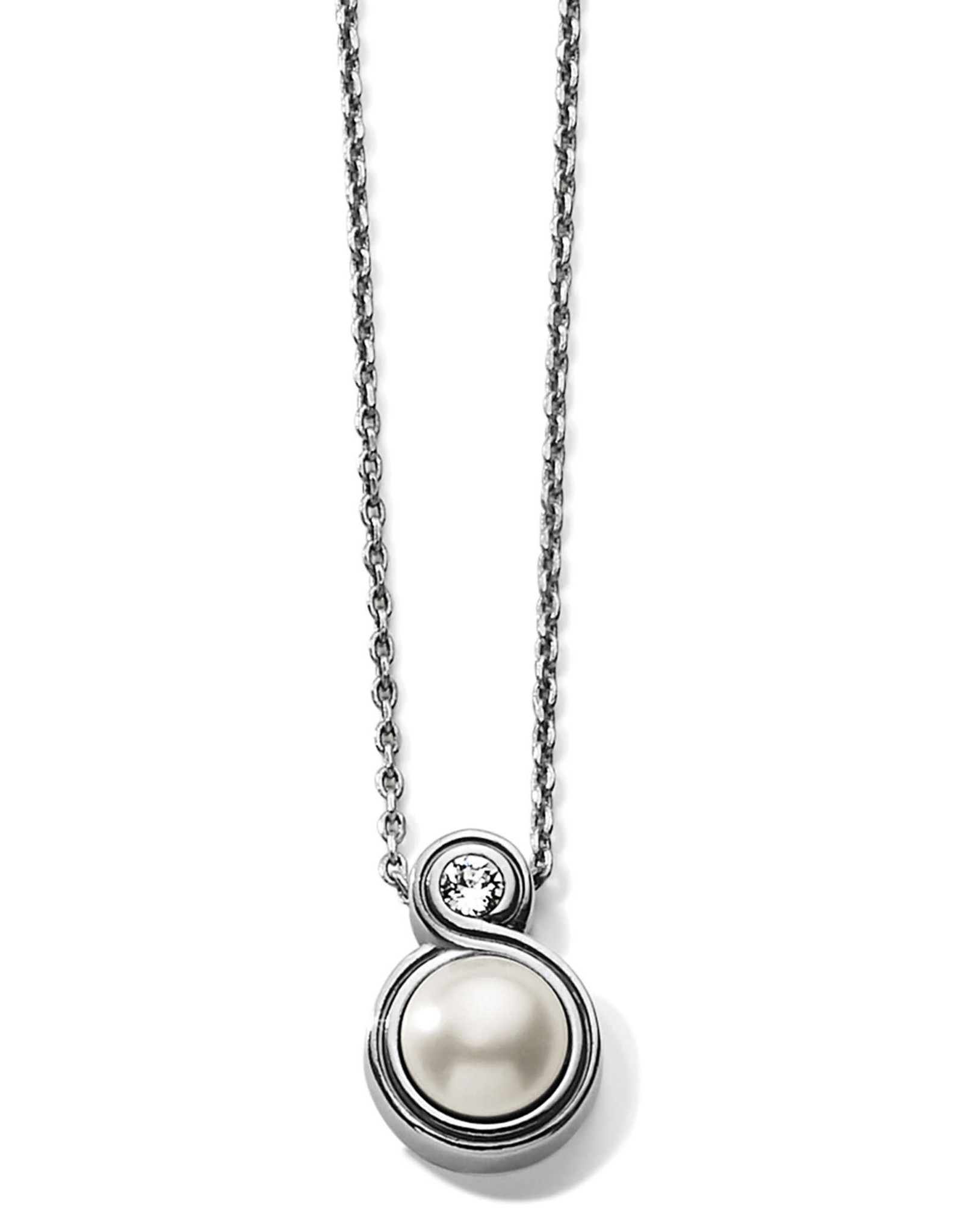 Brighton Brighton Infinity Pearl Petite Necklace