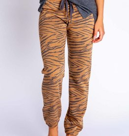 PJ Salvage PJ Salvage Wild One Camel Banded Pant