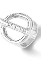 UNOde50 UNO de 50 On/Off Ring Silver