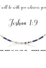 Dot & Dash Design Dot & Dash Necklace Joshua 1:9 Gold