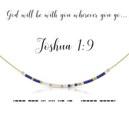 Dot & Dash Design Dot & Dash Necklace Joshua 1:9 Gold